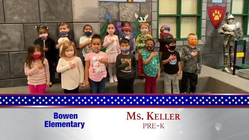 Daily Pledge - Bowen Elementary - Ms. Keller's Class