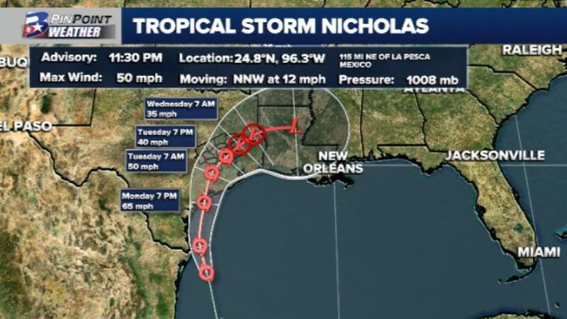 11:30pm Advisory from the National Hurricane Center