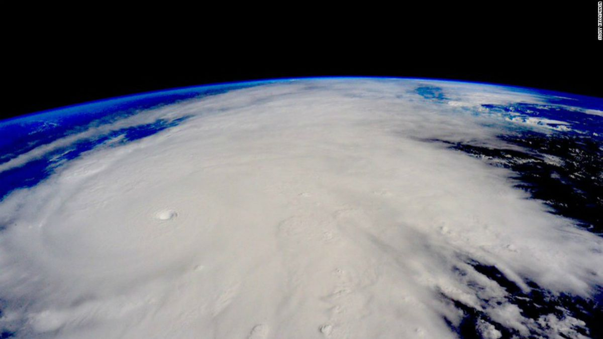 Picture of Hurricane Patricia as seen from the International Space Station in October.