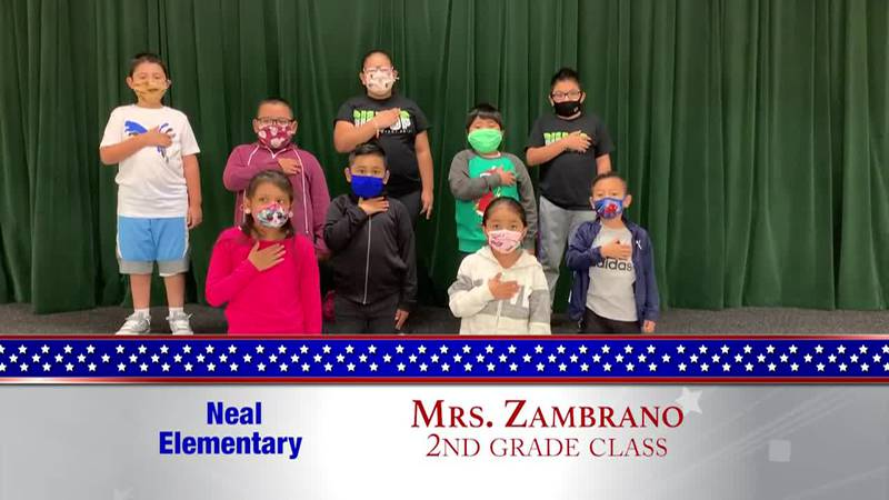 Daily Pledge - Neal Elementary - Mrs. Zambrano's Class