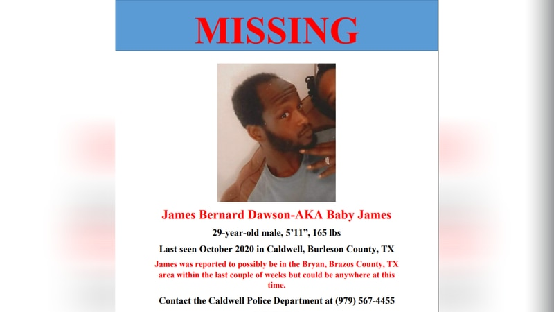 James Bernard Dawson has been missing since October 2020.