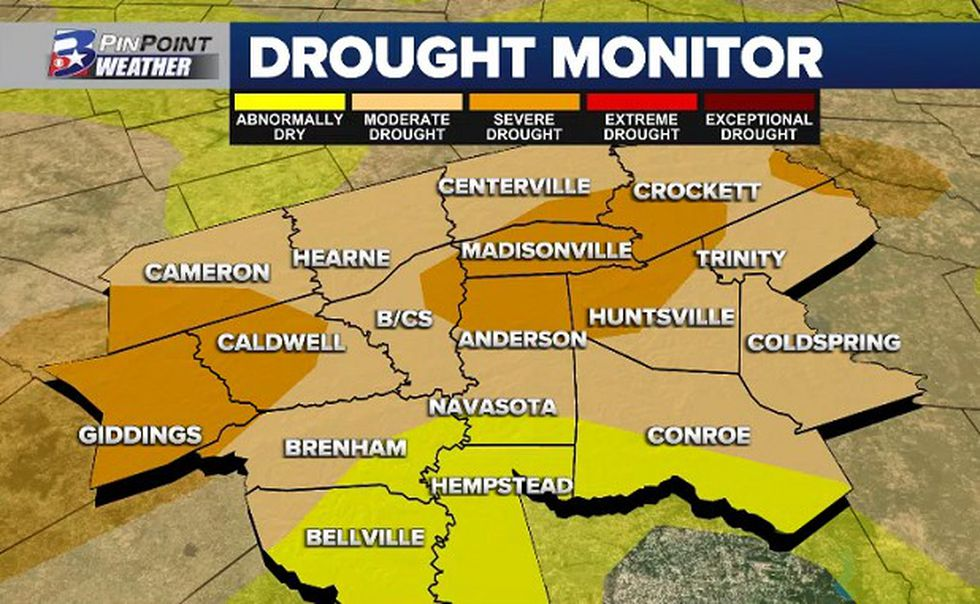 Drought continues to expand across the Brazos Valley and state of Texas.