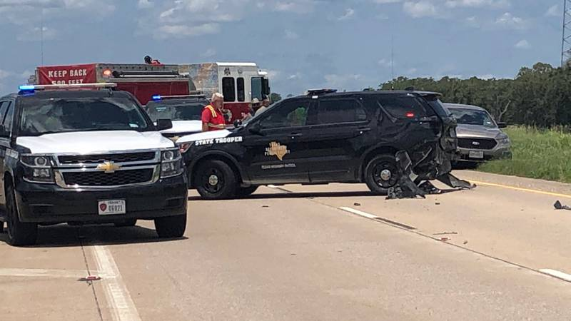 The crash happened as the trooper was assisting with an accident at the Jones Creek Bridge.