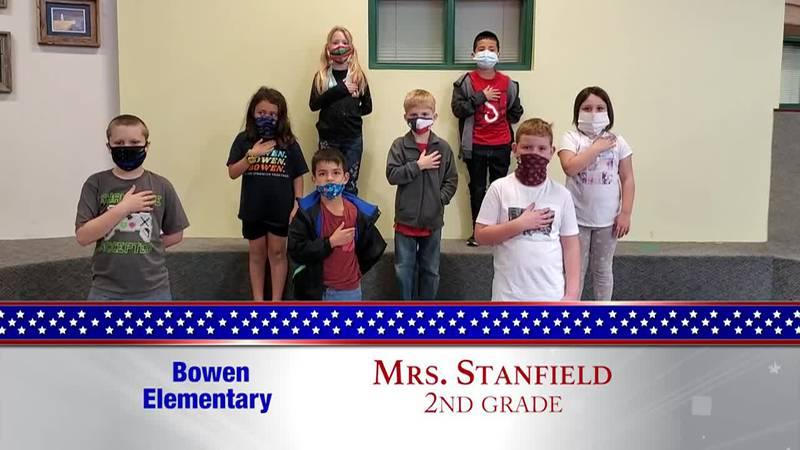 Daily Pledge – Bowen Elementary – Mrs. Stanfield's Class