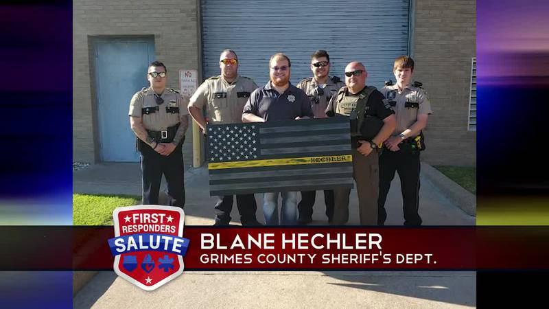 This week's First Responder Salute goes to Blane Hechler.