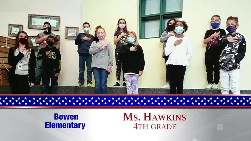 Daily Pledge - Bowen Elementary - Ms. Hawkins's Class