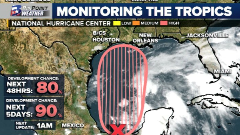Wednesday evening update from the National Hurricane Center