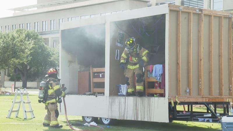 Texas A&M Dorm Burn