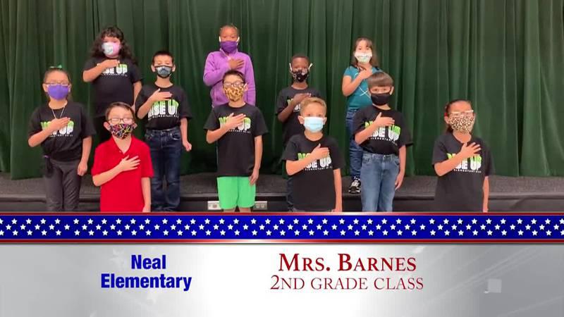 Daily Pledge - Neal Elementary - Mrs. Barnes's Class