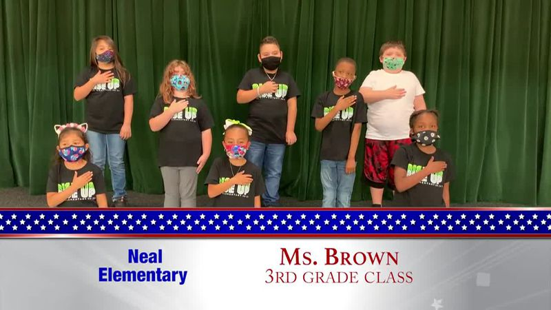 Daily Pledge - Neal Elementary - Ms. Brown's Class