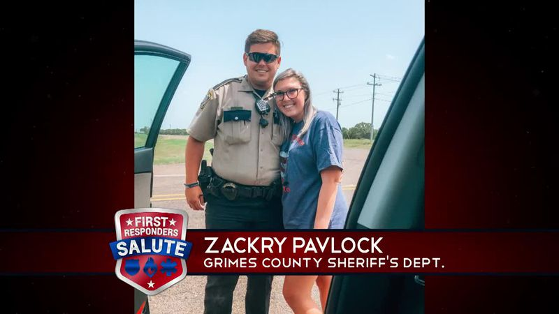 This week's First Responder Salute goes to Zackry Pavlock.