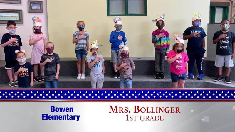 Daily Pledge - Bowen Elementary - Mrs. Bollinger's Class