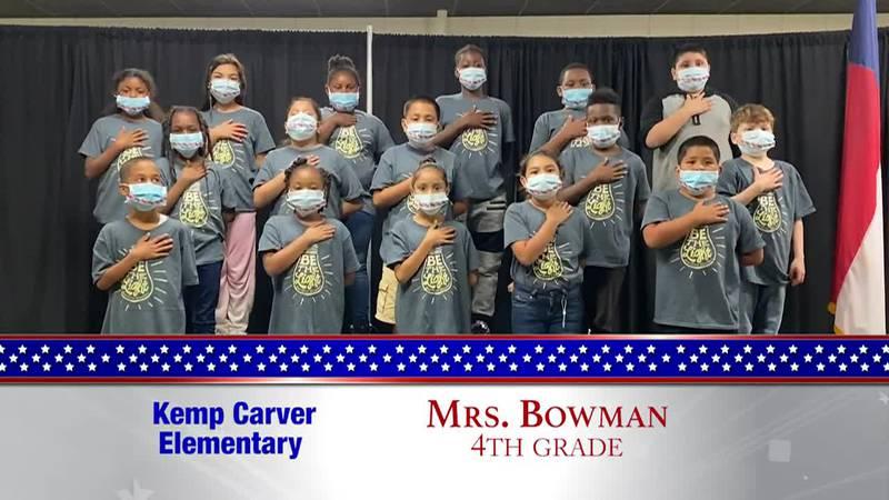 Daily Pledge – Kemp Carver Elementary – Mr. Rojas' Class