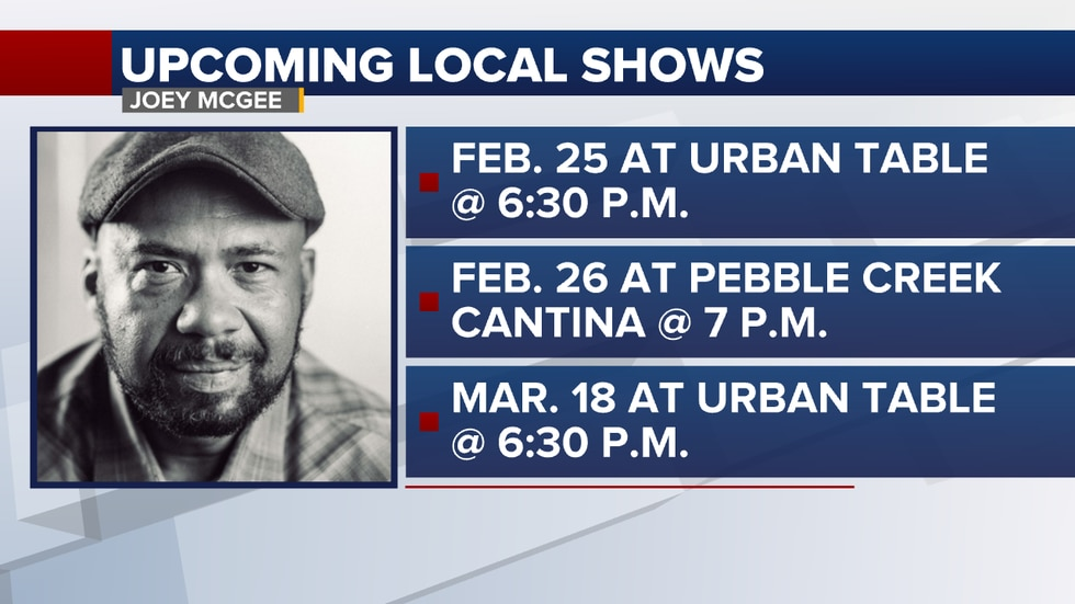 You can catch Joey performing around town next week.