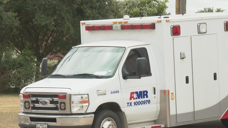 AMR ambulance in Rockdale, TX