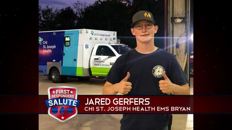 This week's First Responder Salute goes to Jared Gerfers.