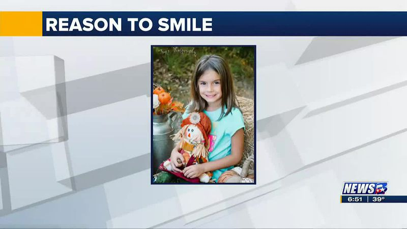 This week's Reason to Smile was sent to us from Daniel Makin.  He said little Kayla here is...