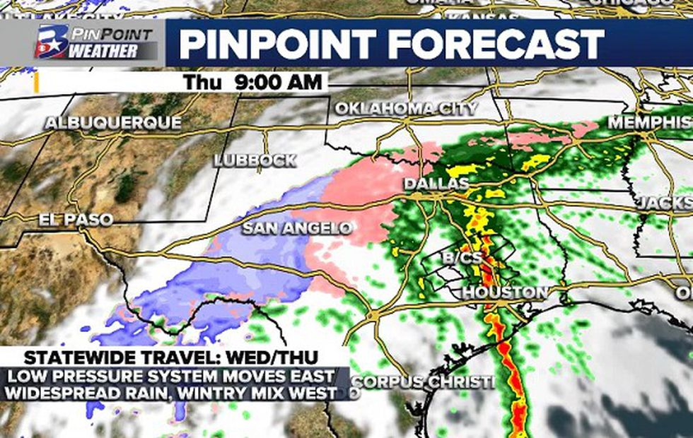 Rounds of heavy rain and an isolated strong storm will be possible before clearer, colder...