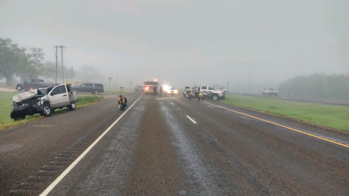 Authorities are investigating an early morning crash on State Highway 21