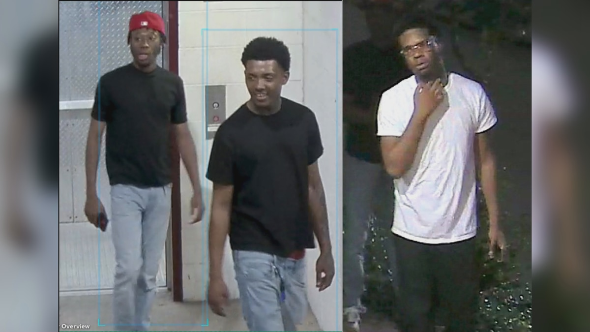 TAMU Police are looking for these three people of interest.