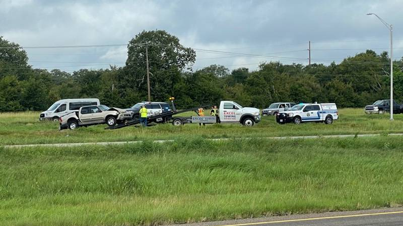 A crash slowed down traffic Thursday morning on Highway 6