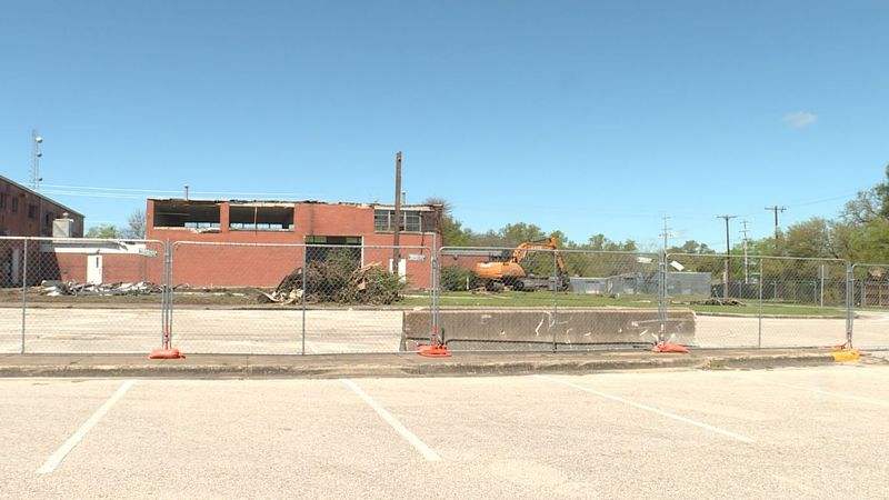 The former Armory is being demolished to make way for a new BTU campus.