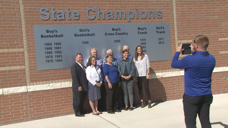 Snook ISD is finishing up a massive improvement project to its school and has created a sign to...