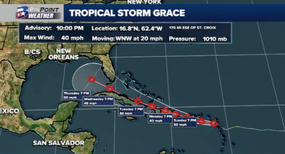 10 pm Saturday update from the National Hurricane Center