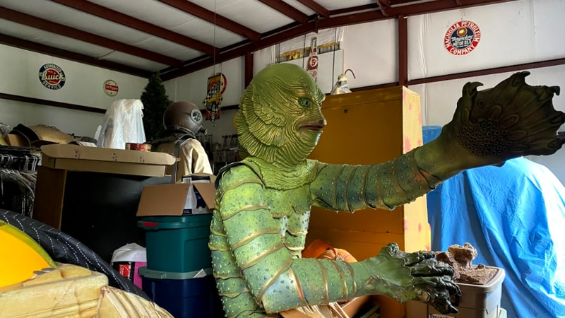 College Station resident, Eric Schulte showed off his Hollywood movie props and wardrobes to...