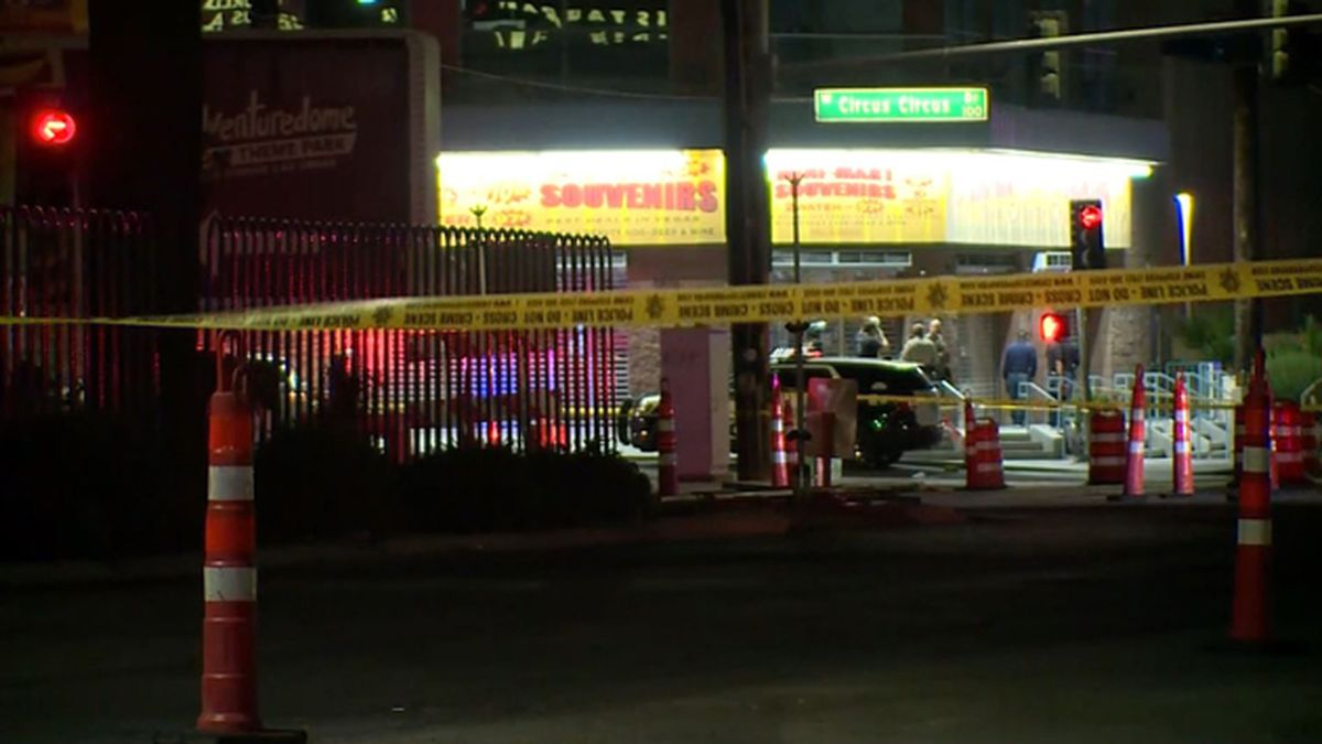 An officer was reportedly shot in one of two officer-involved shootings overnight in Las Vegas. (Source: KLAS/CNN)