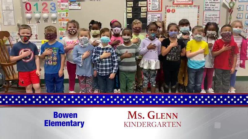 Daily Pledge - Bowen Elementary - Ms. Glenn's Class