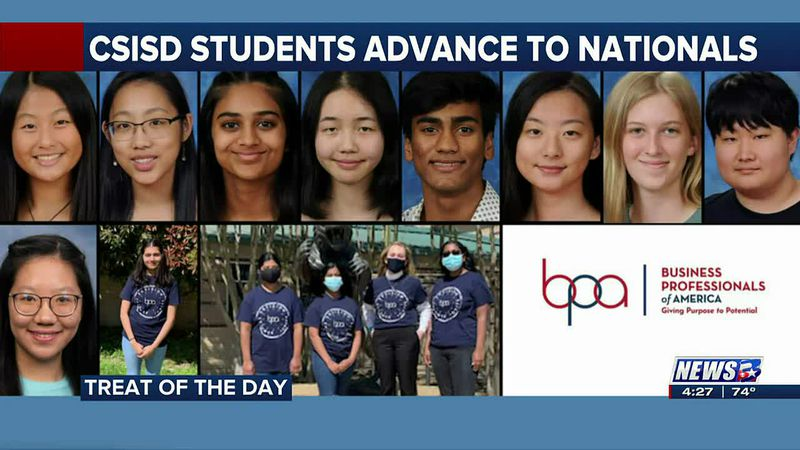 Treat of the Day: CSISD high-schoolers advance to national competition