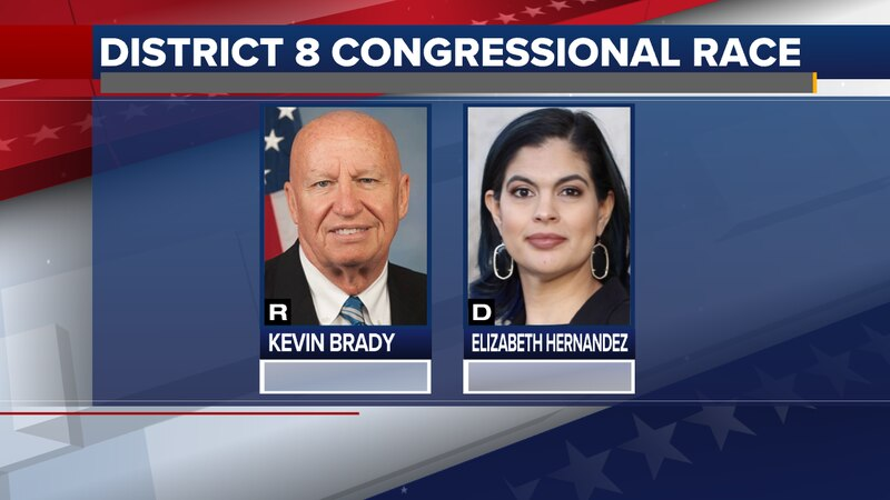 Kevin Brady, R, and Elizabeth Hernandez, D
