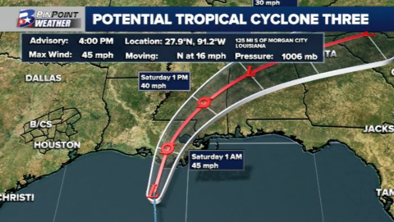 Friday afternoon update from the National Hurricane Center