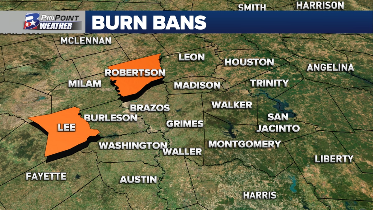Brazos Valley Burn Bans in Effect July 14th