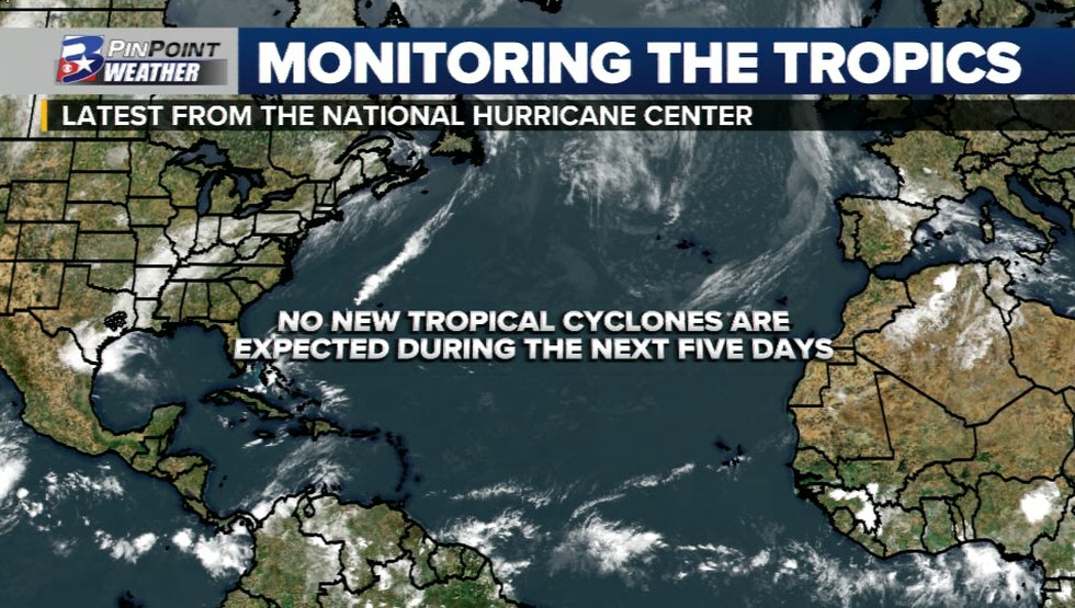 No new tropical cyclones are expected to develop in the next five days.