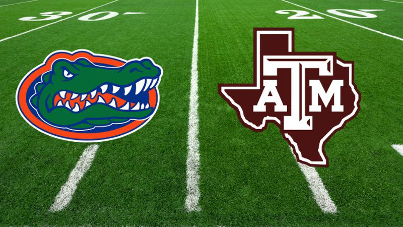 Florida vs Texas A&M Football logo