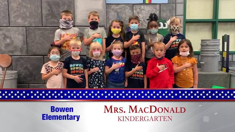 Daily Pledge – Bowen Elementary – Mrs. MacDonald's Class
