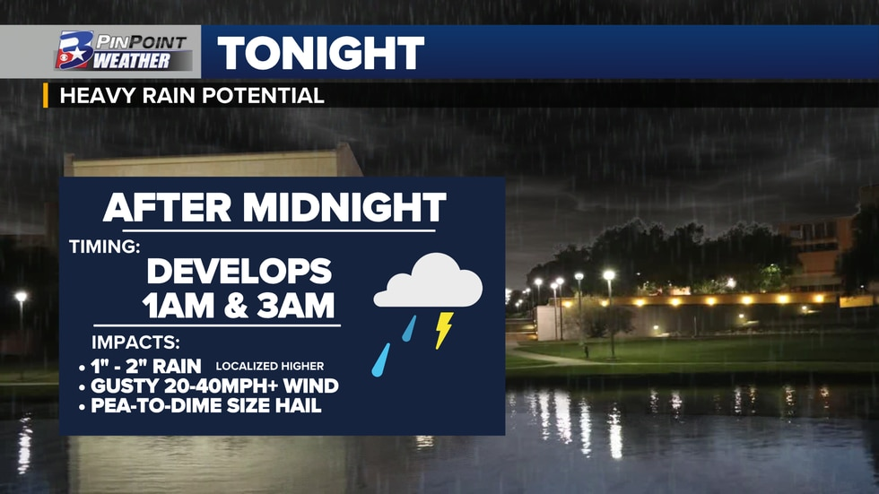Strong thunderstorms are expected to develop over portions of the Brazos Valley Friday Night....