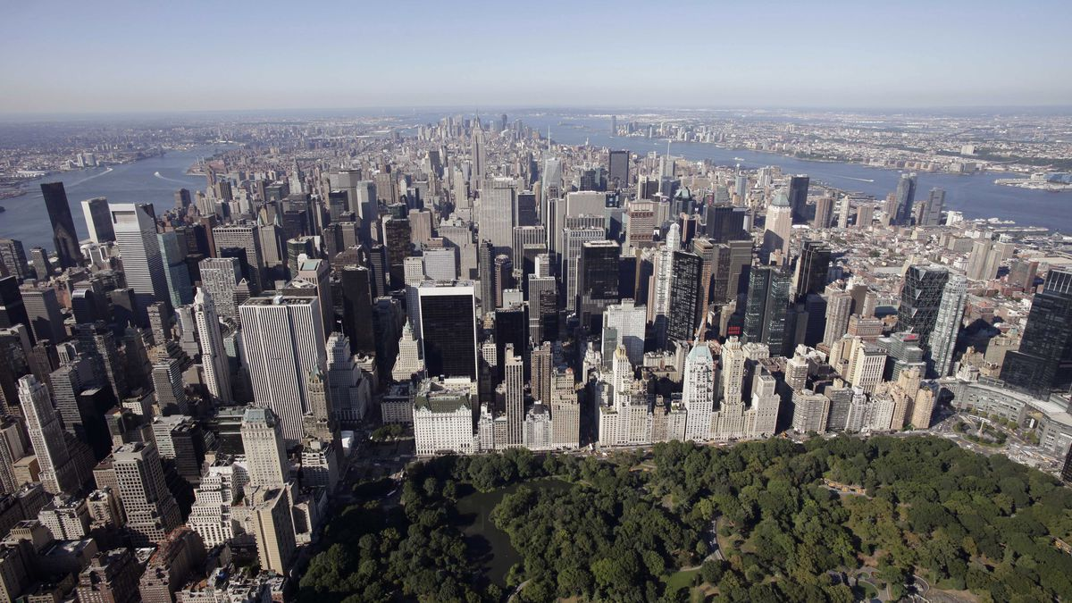 Central Park and midtown Manhattan are shown in this aerial photo of July 27, 2011 in New York.