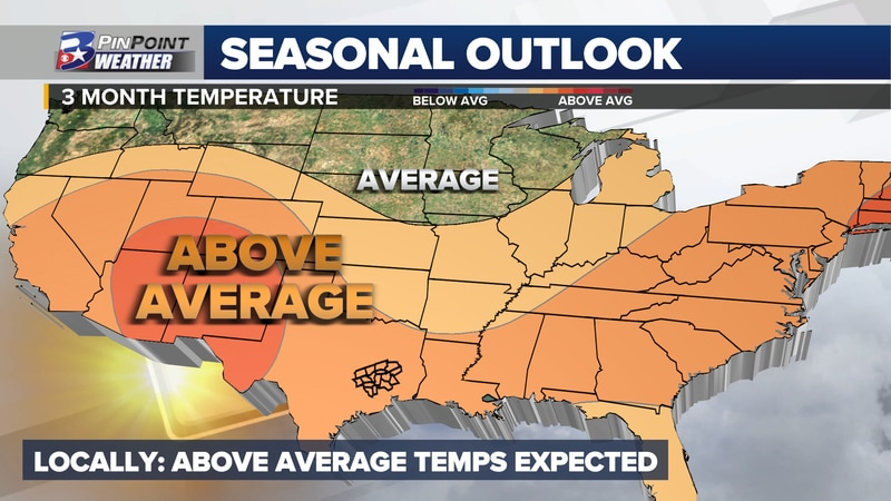 October - November - December temperature forecast from the Climate Prediction Center