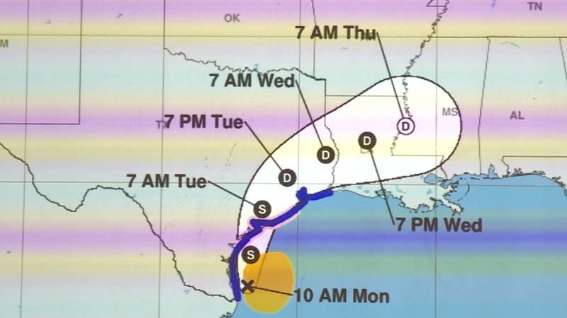 Tropical Storm Nicholas is heading for Texas.