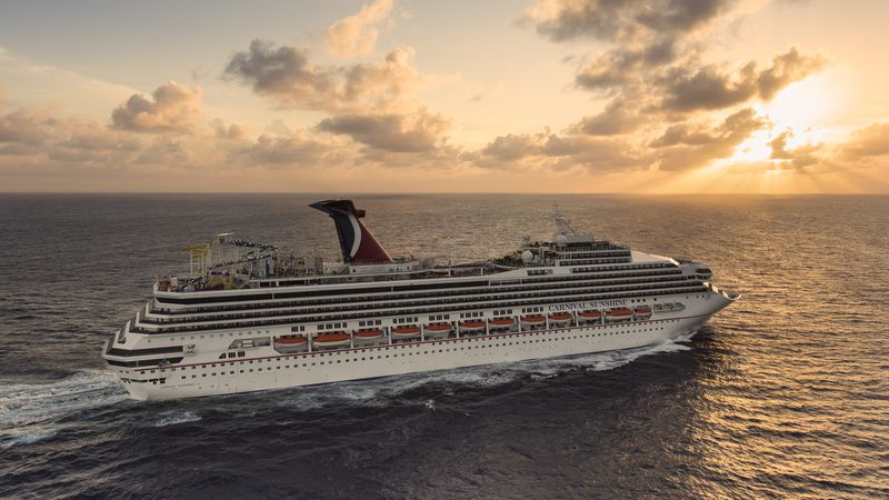 Pictured is the Carnival Cruise Line ship Carnival Sunshine near Grand Cayman in 2013.
