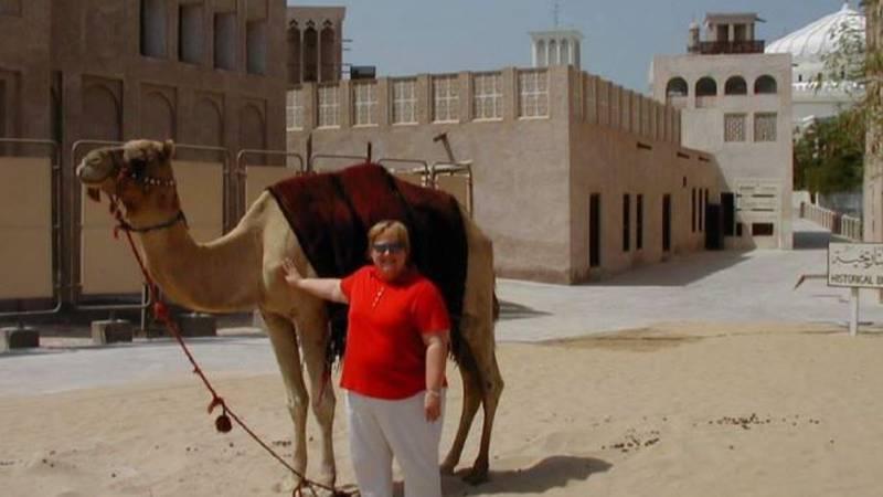 Lynn Hagan in Kuwait in 2001.