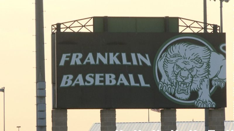 The Franklin High School baseball team collected monetary donations to give to Trooper Chad...
