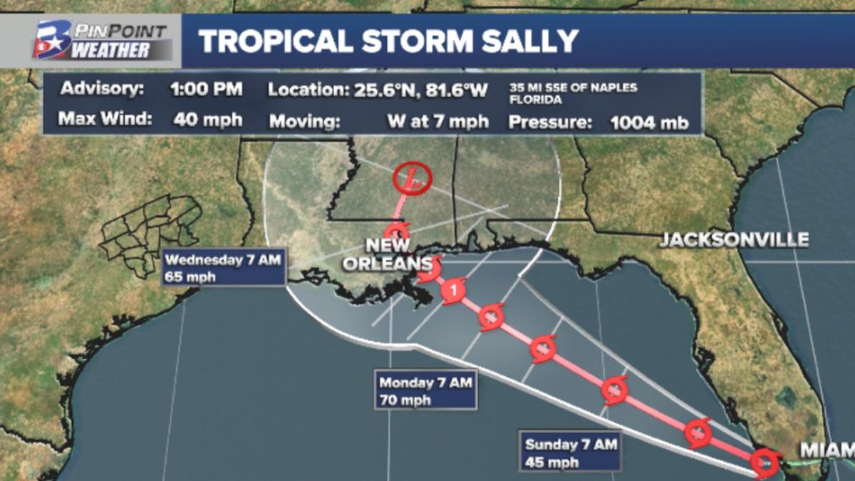 Tropical Storm Sally Forms Near South Florida