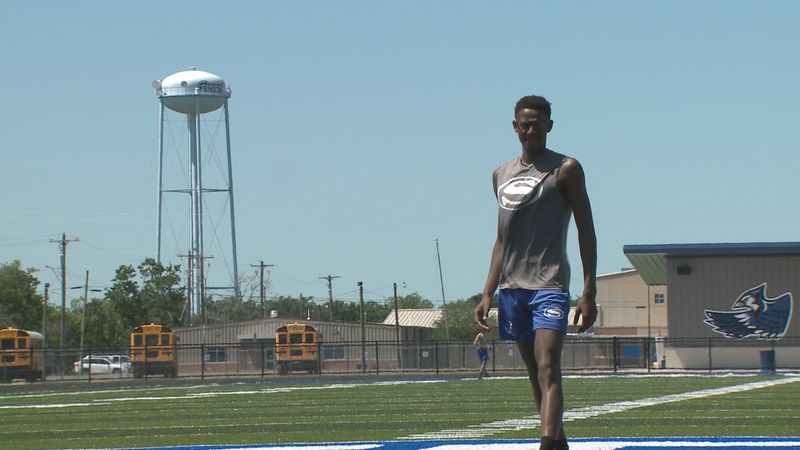 DeShun Hamilton will compete in the Class 2A boys' high jump Friday morning in Austin.