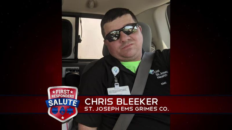 This week's First Responder Salute goes to Chris Bleeker.