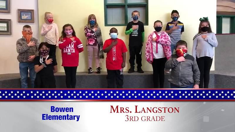 Daily Pledge – Bowen Elementary – Mrs. Langston's Class