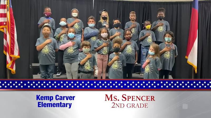 Daily Pledge - Kemp Carver Elementary – Ms. Spencer's Class